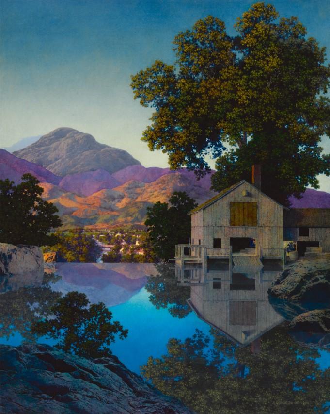 Maxfield Parrish художник Пэрриш картина Mill Pond пейзажи природы Альберт Сафиуллин