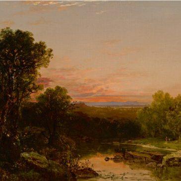 John Kensett художник Кенсетт картина SUNSET OVER THE CATSKILLS пейзажи Альберт Сафиуллин