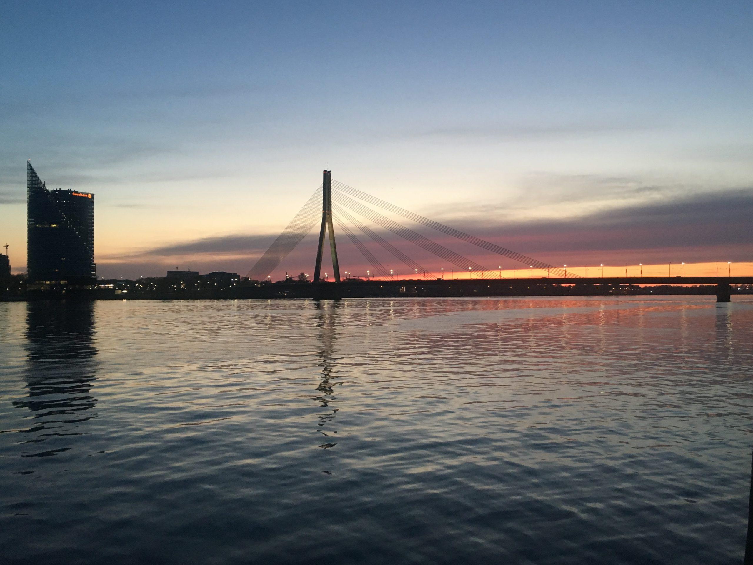 Рига Латвия Даугава мост пейзажи природы Альберт Сафиуллин