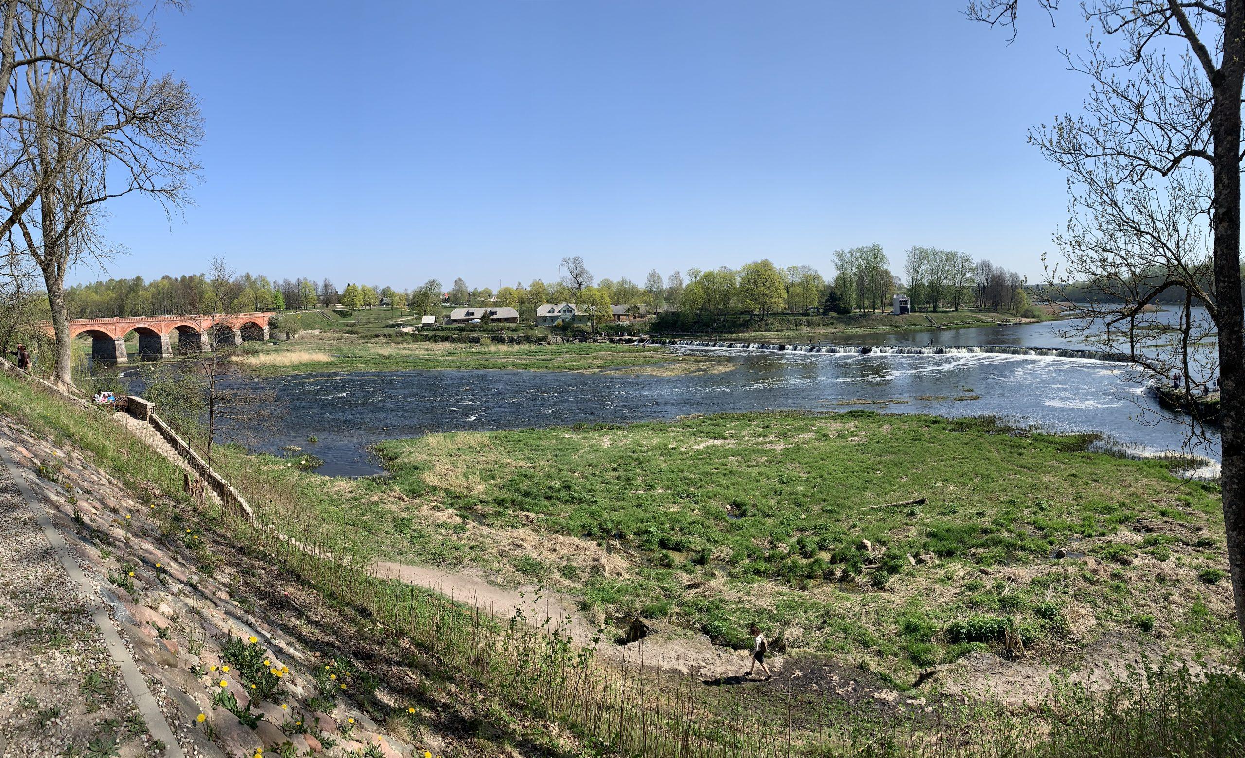 Кулдига водопад Латвия май пейзажи природы Альберт Сафиуллин