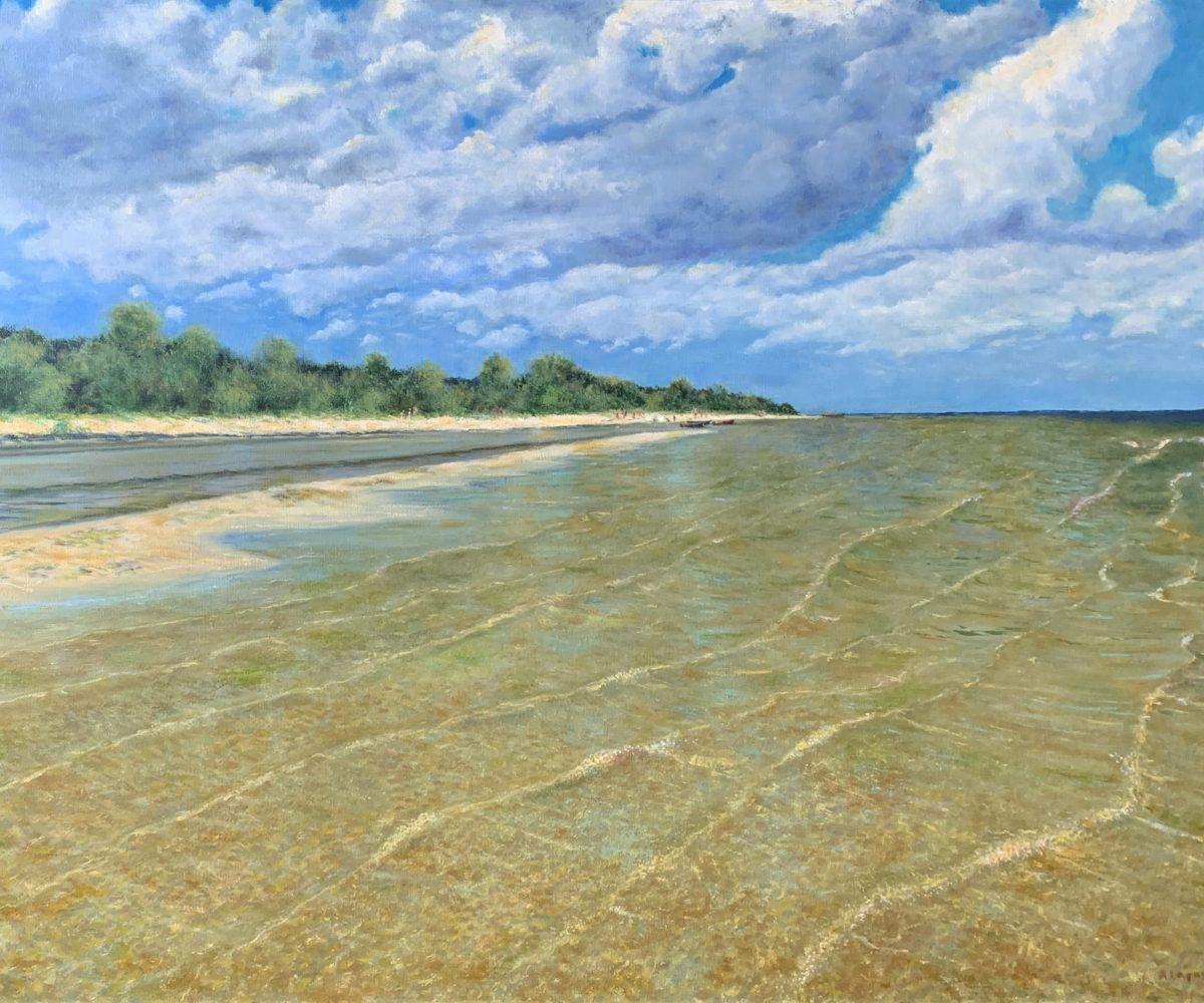 морской пейзаж картина маслом Латвия Прибалтика Рагациемс художник Альберт Сафиуллин