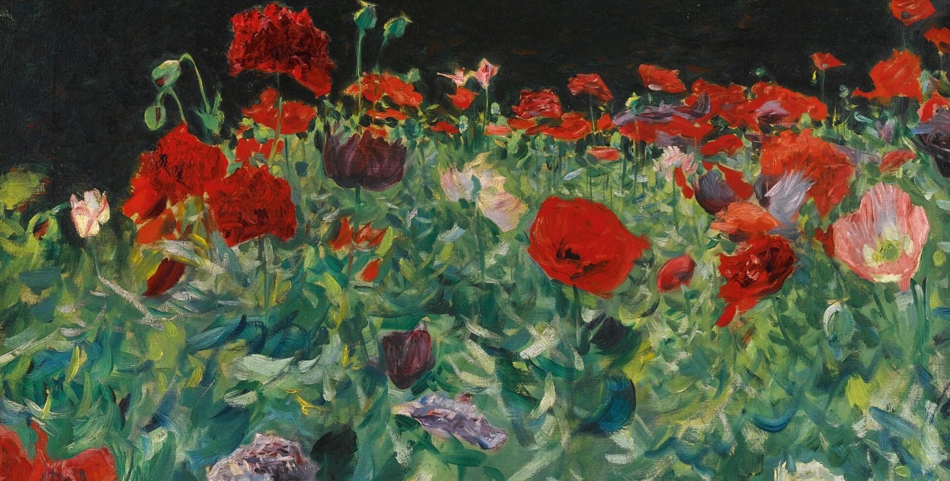 John Sargent poppies художник Сарджент картина маки пейзажи природы Альберт Сафиуллин