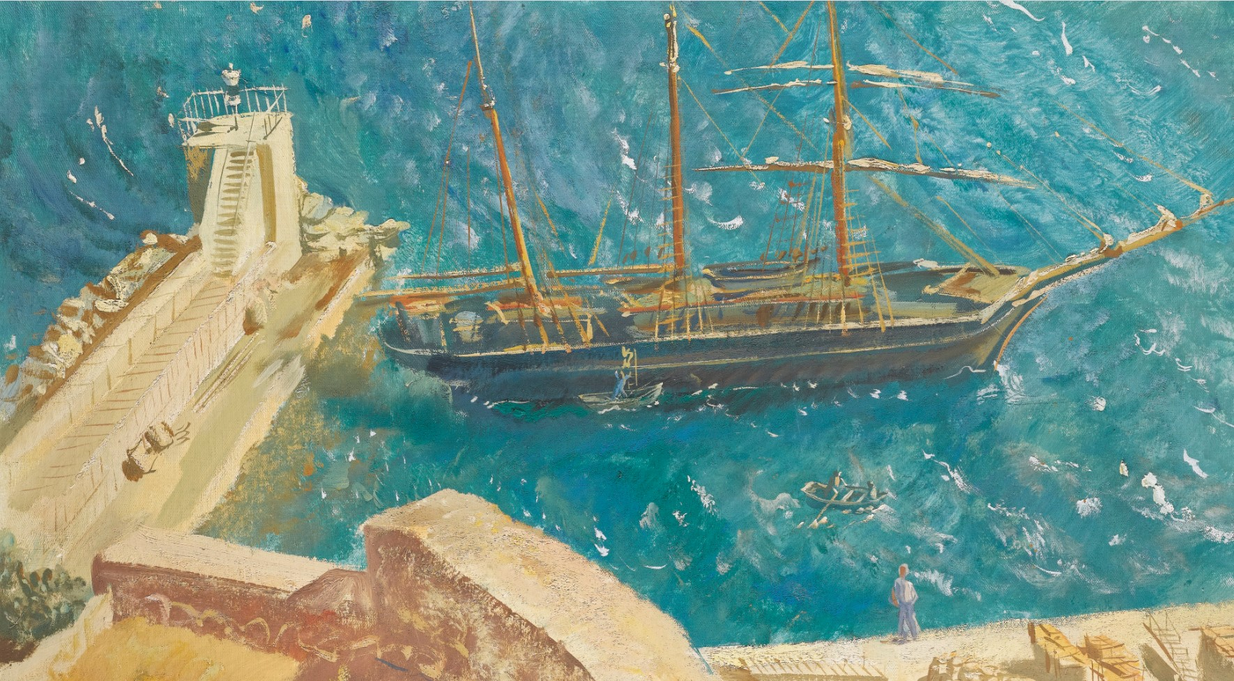 Alexander Yakovlev художник Яковлев картина вид на порт Кальви пейзажи Альберт Сафиуллин