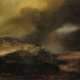Rembrandt Рембрандт художник Пейзаж с грозой картина Альберт Сафиуллин