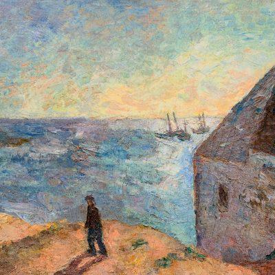 Роберт Фальк Robert Falk Домик у моря Бретань картина пейзажи Альберт Сафиуллин