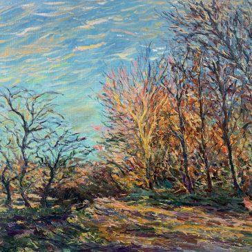 Художник Альберт Сафиуллин картина Сислей Опушка в лесу фонтенбло пейзажи природы