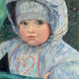 Внучка картина холст масло художник Альберт Сафиуллин