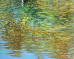 Осень пейзаж параллельный мир отражение река картина художник Альберт Сафиуллин