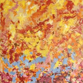 угли огонь костер абстракция картина художник Альберт Сафиуллин