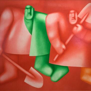 Олег Целков картина Двое с лопатами Выставка ДАРЫ Русский Музей