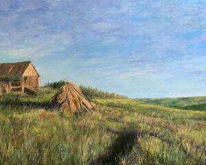 пейзаж село старое барышево Татарстан закат импрессионизм картина художник Альберт Сафиуллин