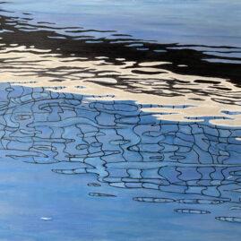 Мост отражение абстракция Параллельный мир картина художник Альберт Сафиуллин