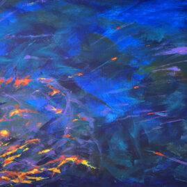 Абстракция вселенная космос акрил масло картина Unexpected Release художник Альберт Сафиуллин