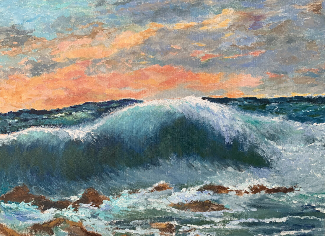 Волны море пейзаж Курбе картина художник Альберт Сафиуллин