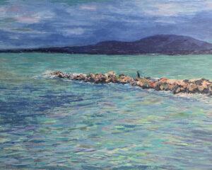 Черное море Геленджик пейзаж картина акрил художник Альберт Сафиуллин